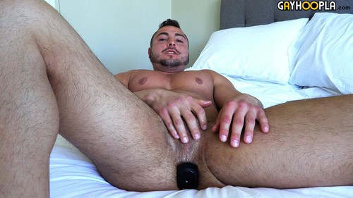 GayHoopla - Thick Muscle Jock George Gomez Strokes His Cock