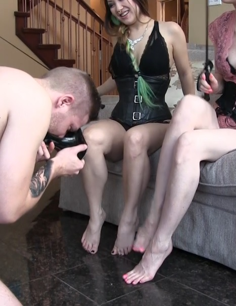 Humiliated Pin Dick Is Their Human Stool And Foot Licker