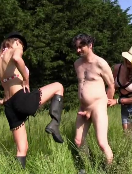 Outdoor Ballbusting