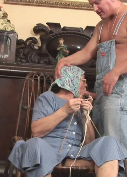 Knitting Grandmam Gets Fucked