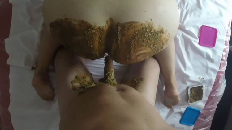 lady caca - Doggy style with my shit and his shit