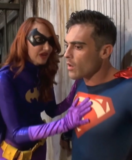 Batgirl and Superman Strapon Fuck