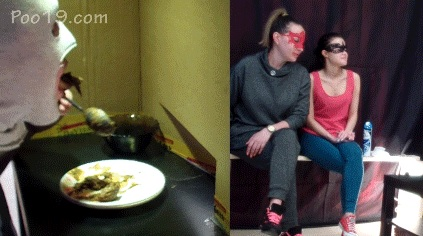 MilanaSmelly - Toilet slave eating 2 shit sitting in a box
