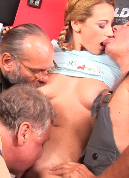 Hot young girl fucking in a group