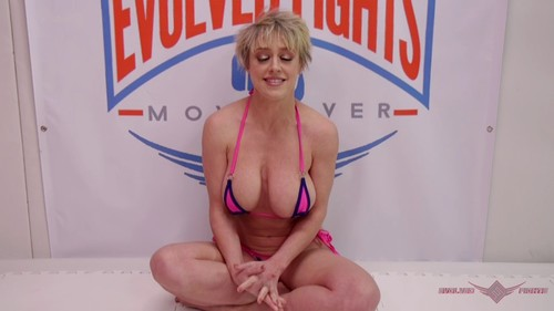 January 1, 2019 – Dee Williams, Jay West – Big Tittied Blonde Destroys Man with Ball Busting then Fucks him – Mixed Wrestling