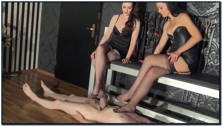 Stockings Trampling Femdom Foot Fetish